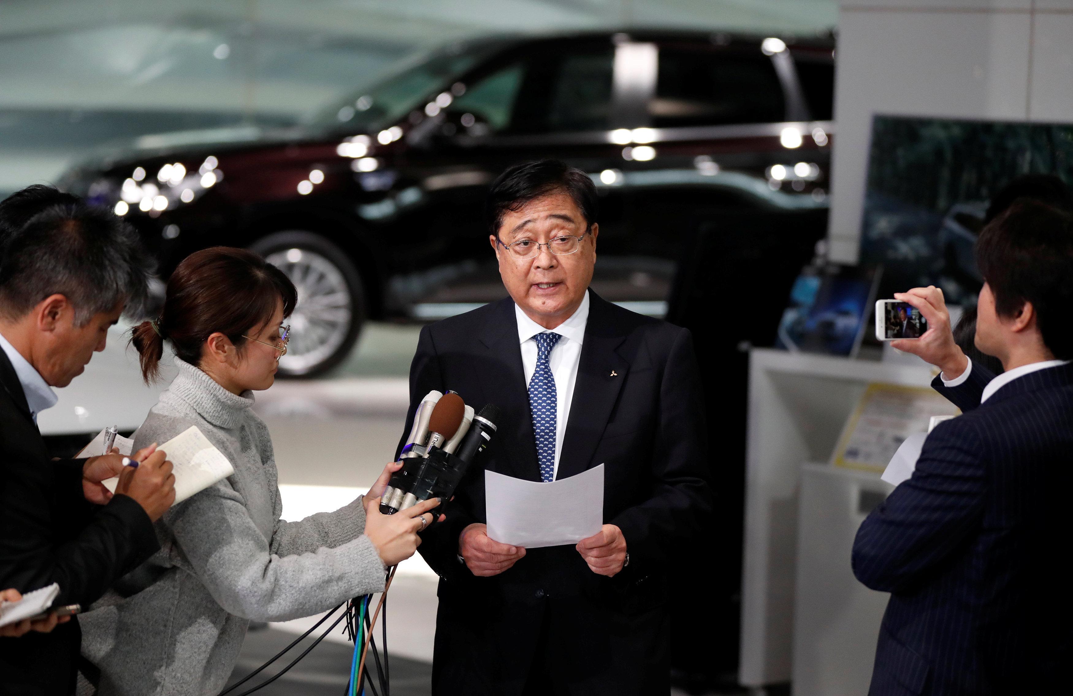 Osama Masuko, Presidente interino de Mitsubishi Motors
