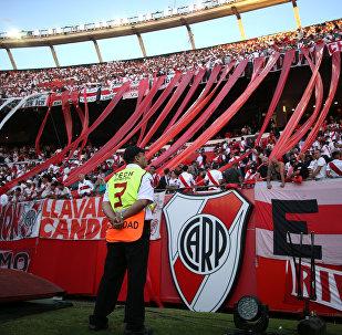 Una tribuna en el partido suspendido entre Boca y River por la final de la Copa Libertadores