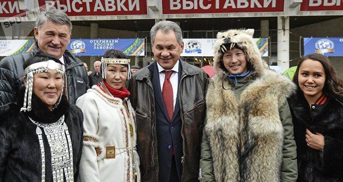 Serguéi Shoigú, ministro de Defensa ruso, en un festival de la Sociedad Geográfica Rusa