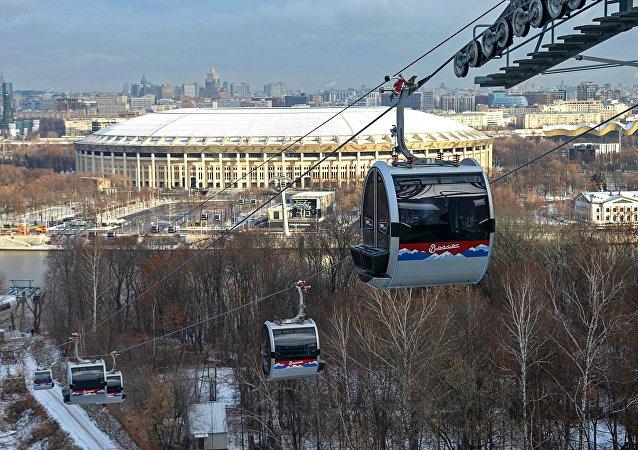 Apertura del teleférico de Moscú