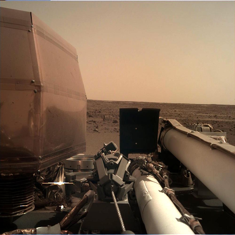 Imagen de Marte registrada por la sonda InSight