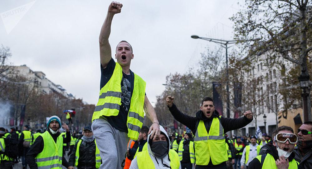 Protestas de los chalecos amarillos en Francia