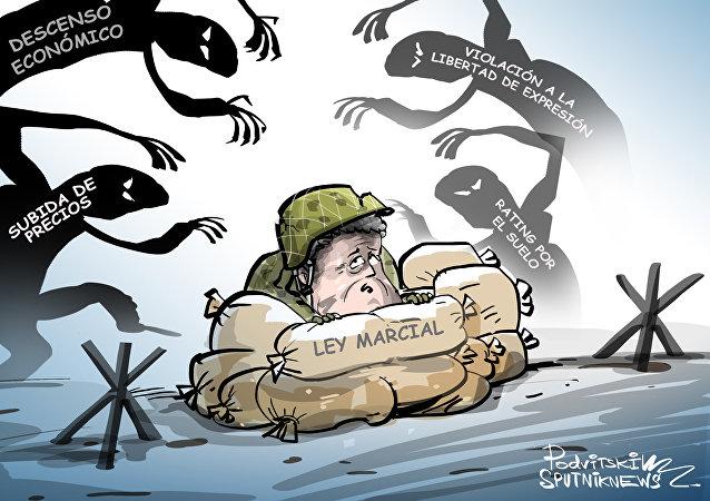 La ley marcial, truco preelectoral de Poroshenko