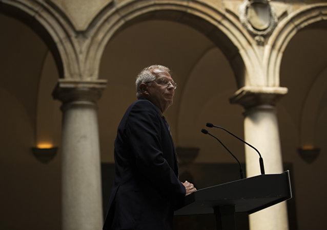 Josep Borrell, ministro de Exteriores español