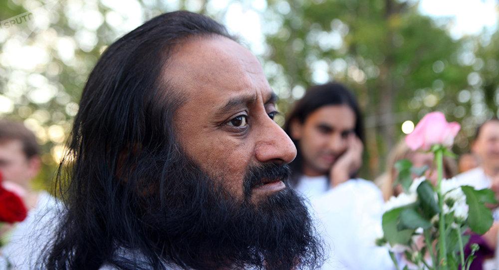 El fundador de El Arte de Vivir, Sri Sri Ravi Shankar