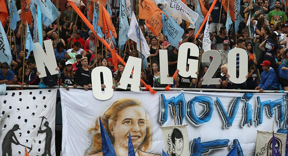 Protestas contra la cumbre del G20 en Buenos Aires