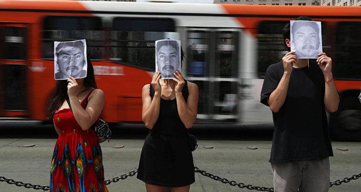 Los chilenos con el retrato del comunero mapuche Camilo Catrillanca