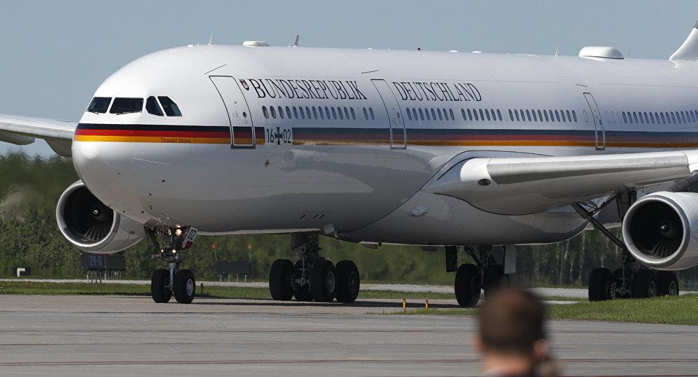 Avión de la canciller de Alemania Angela Merkel (Archivo)