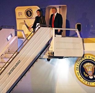 El presidente estadounidense, Donald Trump, con su esposa Melania