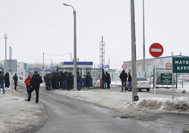 La frontera entre Rusia y Ucrania