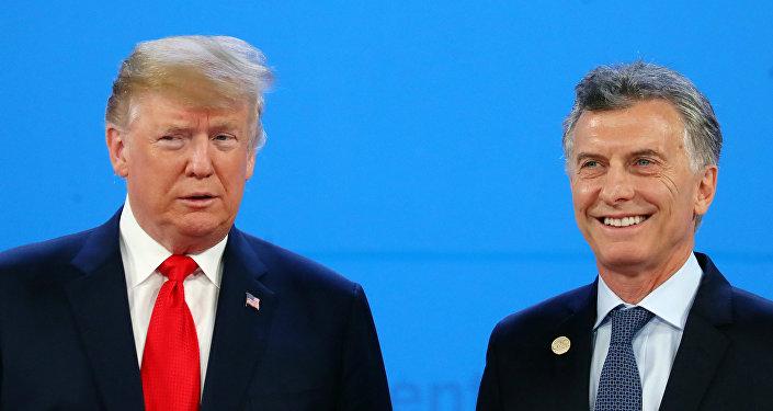 El presidente de EEUU, Donald Trump y su homólogo de Argentina, Mauricio Macri