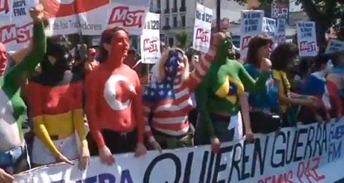 Protestas masivas en Buenos Aires contra el G20