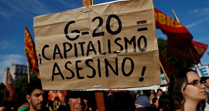 La marcha contra el G20