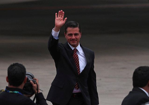 Enrique Peña Nieto, el presidente saliente de Mexico, arriba a la cumbre de líderes del G20 en Buenos Aires, Argentina
