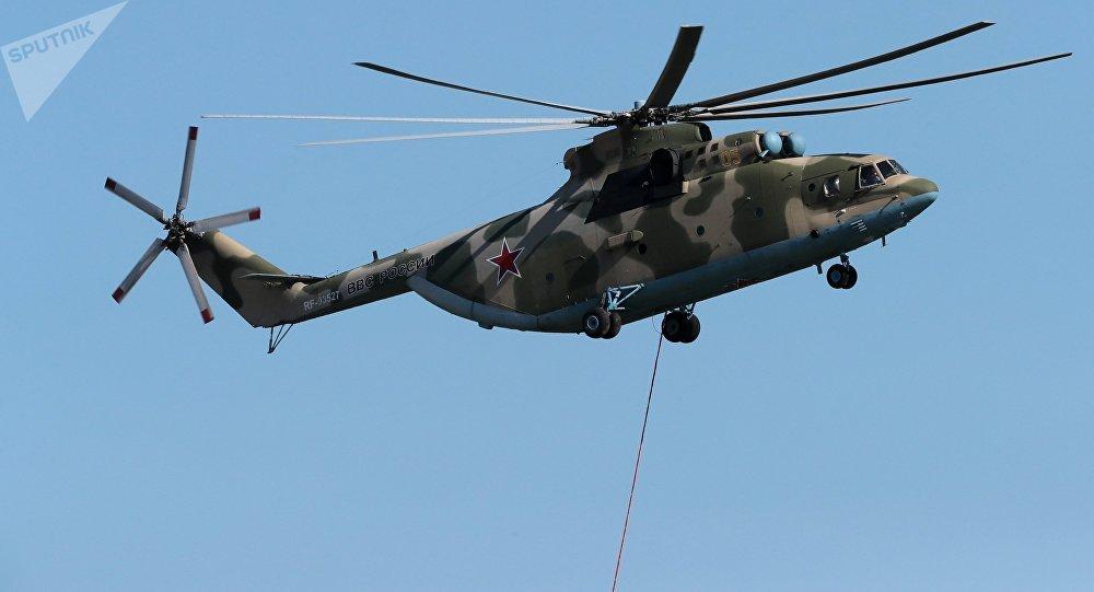Un helicóptero Mi-26