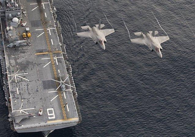 Los cazas estadounidenses F-35B