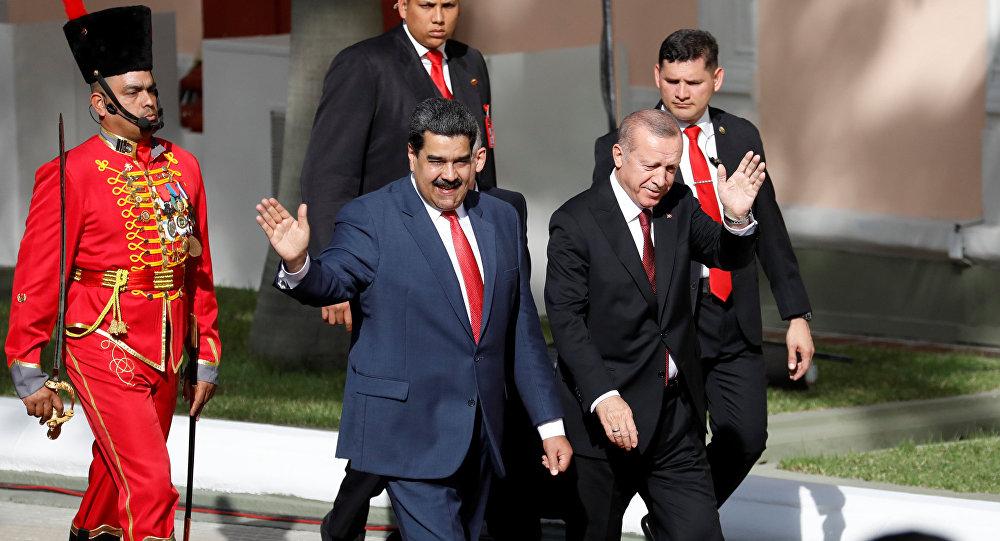 Nicolás Maduro, presidente de Venezuela, y Recep Tayyip Erdogan, presidente de Turquía