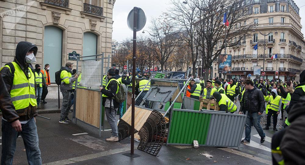 Las protestas de los chalecos amarillos en París, Francia