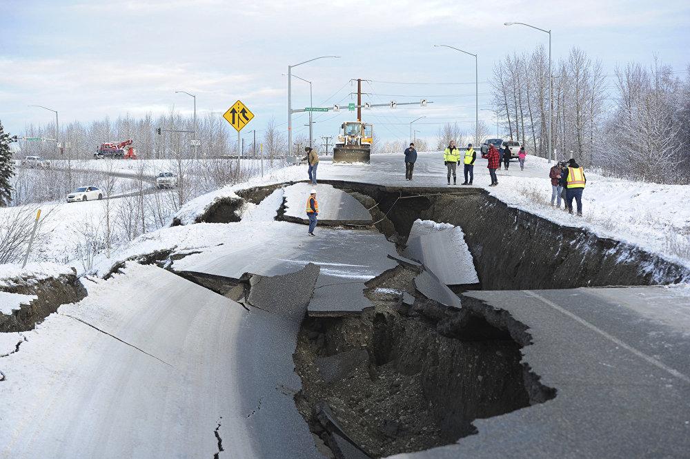 Las consecuencias del potente sismo en Alaska