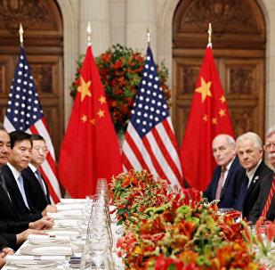 El presidente de EEUU, Donald Trump, con su homólogo chino, Xi Jinping,en las negociaciones entre EEUU y China en G20 en Argentina