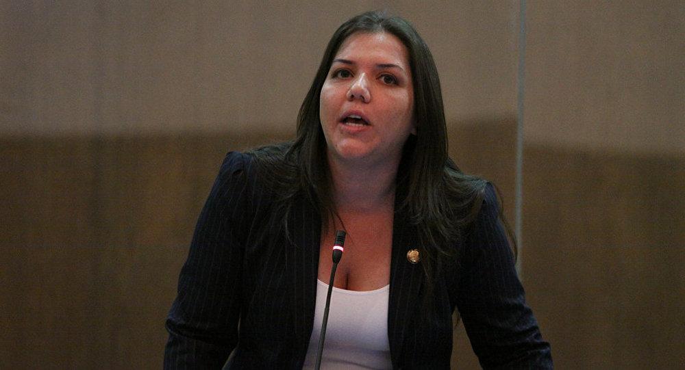 María Alejandra Vicuña, vicepresidenta de Ecuador (Archivo)