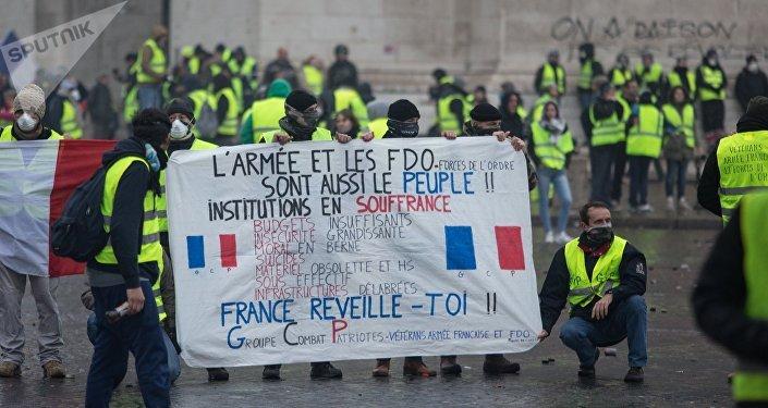Protestas de los 'chalecos amarillos' en París, Francia (archivo)