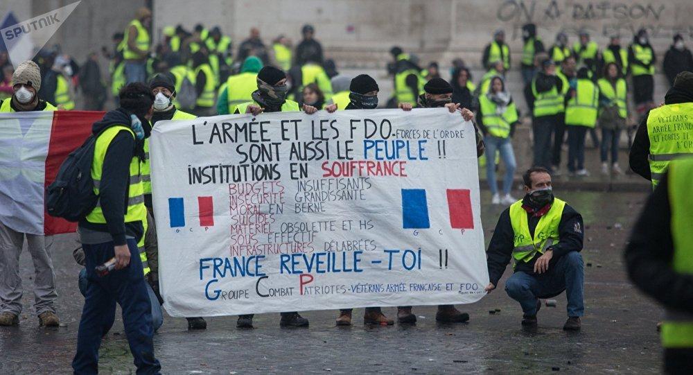 Protestas de los 'chalecos amarillos' en París, Francia