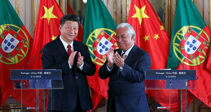 Presidente de China, Xi Jinping, y primer ministro de Portugal, Antonio Costa