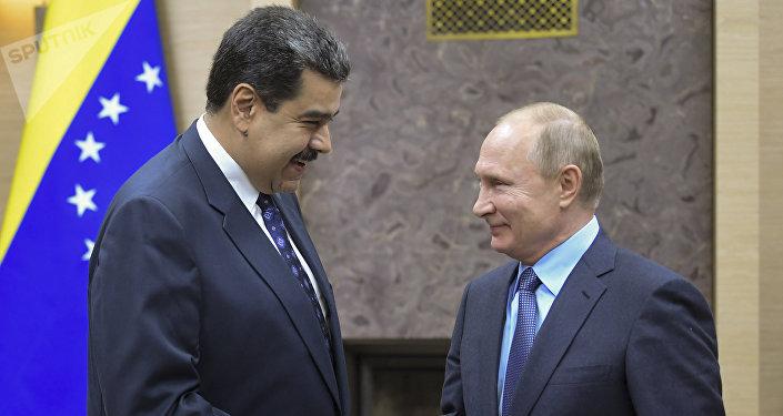 Nicolás Maduro, presidente de Venezuela; y Vladímir Putin, presidente de la Federación Rusa