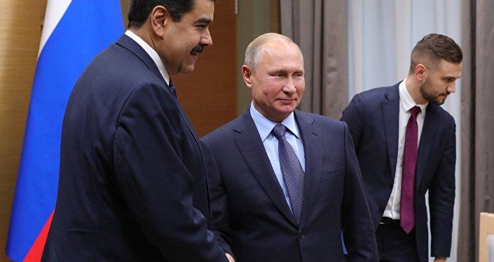 Nicolás Maduro, presidente de Venezuela; y Vladímir Putin, presidente de Rusia