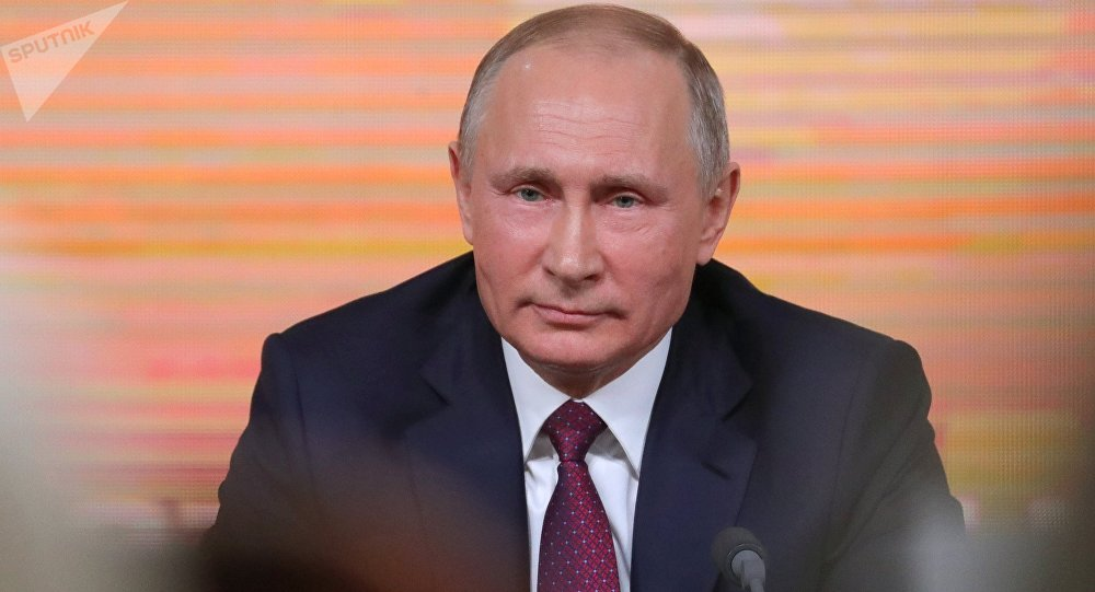 Vladímir Putin, presidente de Rusia, durante la gran rueda de prensa anual (archivo)