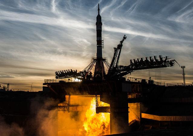 El lanzamiento del cohete portador Soyuz desde el cosmódromo Baikonur (Archivo)