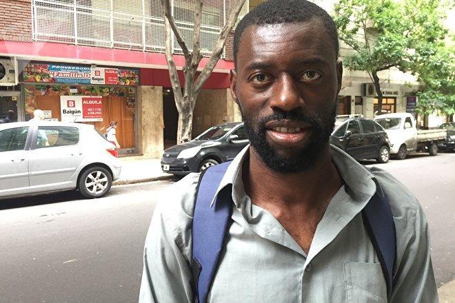 Nicanor St. Fort Laurent, abogado y líder del Movimiento para la Unión, Desarrollo, Protección e Integración de los Afros en Argentina (Mudpiar)
