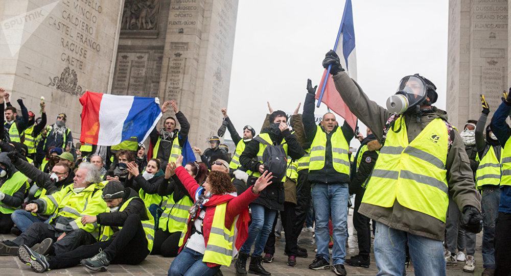 Los protestas de 'chalecos amarillos' en París, Francia