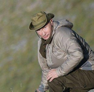 Vladimir Putin, presidente de Rusia, durante sus vacaciones en la región siberiana de Tuva (Rusia), julio de 2018