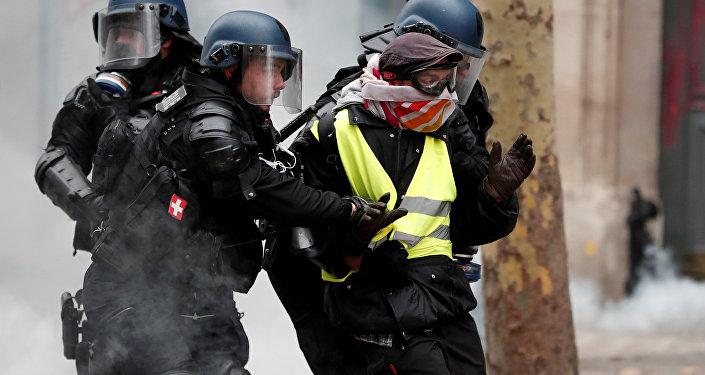 Protestas de 'chalecos amarillos' en Bruselas
