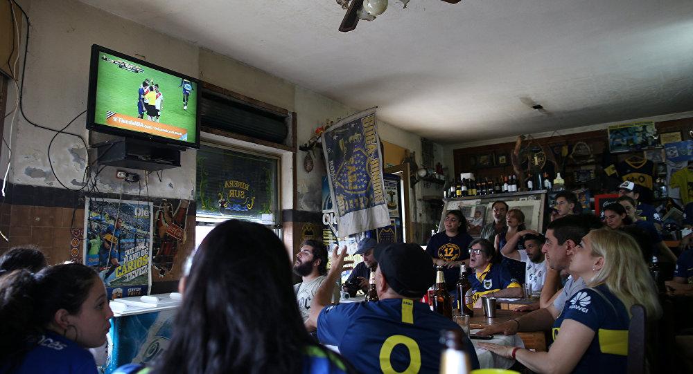 Los hinchas de Boca Juniors en Buenos Aires