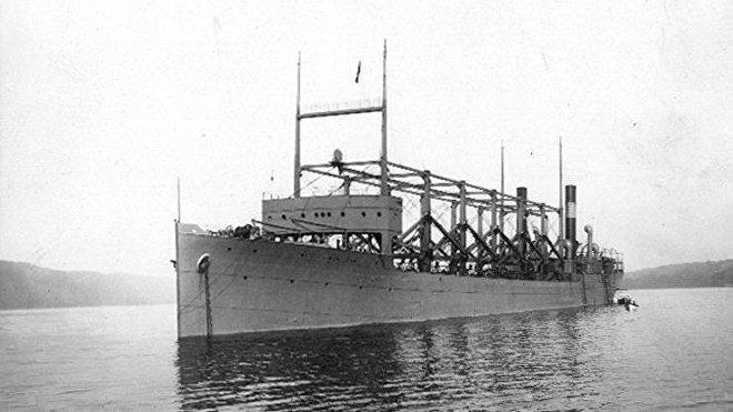 El buque de abastecimiento militar USS Cyclops (archivo)