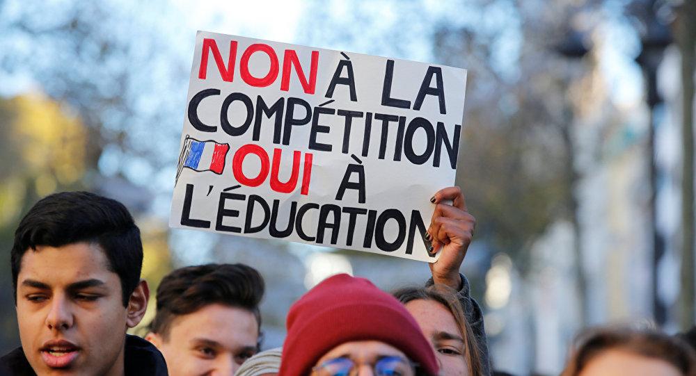 Protestas de estudiantes en París, Francia
