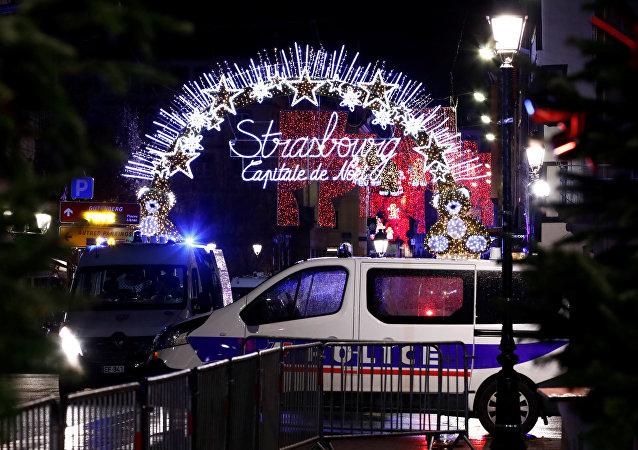 Lugar del tiroteo en Estrasburgo