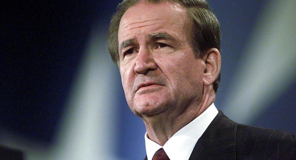 Patrick Buchanan, consejero de los presidentes estadounidenses Richard Nixon, Gerald Ford, y Ronald Reagan