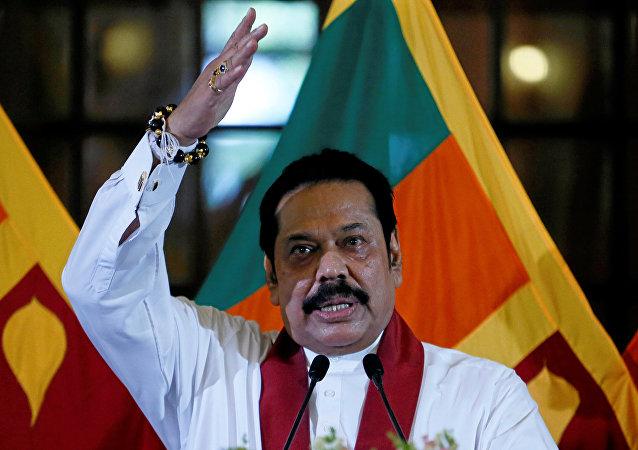 Mahinda Rajapaksa, primer ministro de Sri Lanka