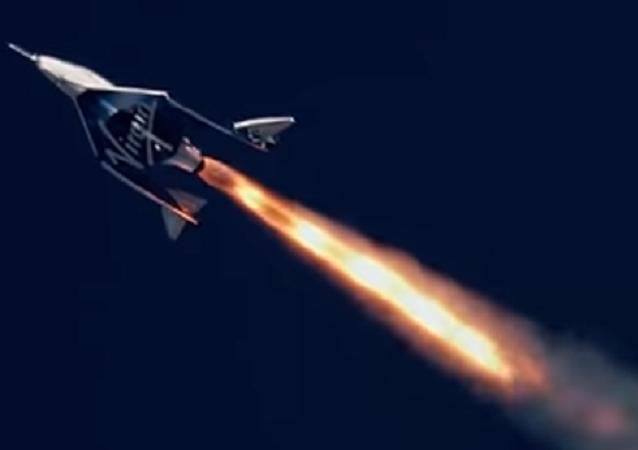 El vuelo del aparato VSS Unity