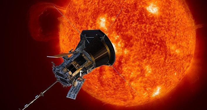La sonda Solar Parker, imagen artística