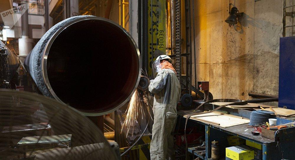 La construcción del gasoducto Nord Stream (archivo)