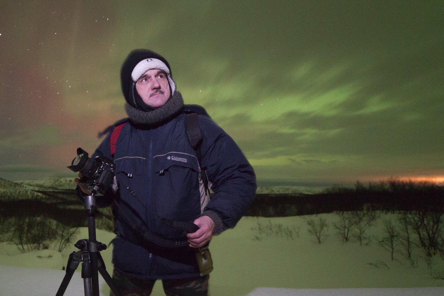 Alexandr Stepanenko, famoso 'cazador de luces' en Murmansk