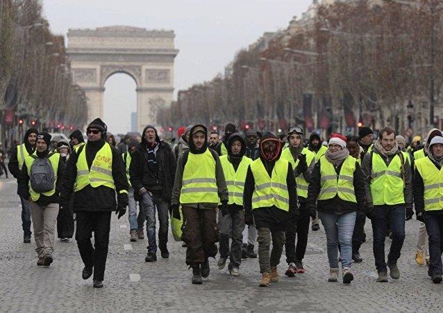 Protestas de los 'chalecos amarillos' en París (archivo)