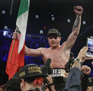 Saúl Canelo Álvarez, boxeador mexicano