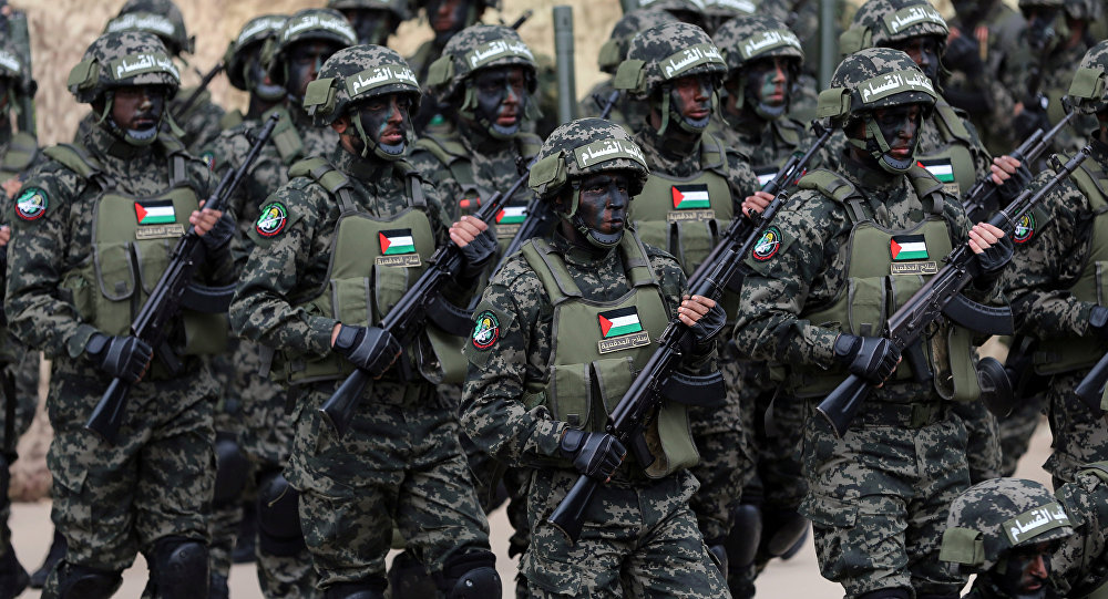 Militantes del movimiento Hamás