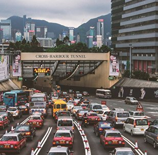 Una calle en Hong Kong